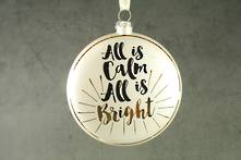 10CMD GLASS DISC ' ALL IS CALM ALL IS BRIGHT'