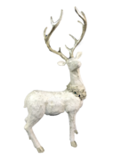 CREAM / CHAMPAGNE RESIN STANDING DEER