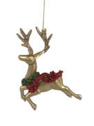 SET2 GOLD DEER WITH NECK WREATH HANGERS