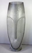 46CMH SMOKE GLASS EASTER ISLAND VASE