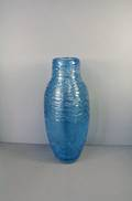30CMH BLUE ART GLASS VASE
