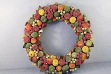 FROSTED BERRY WREATH OR CANDLE RING