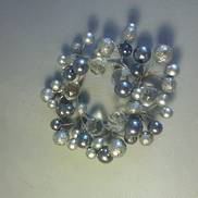 PLATINUM & CLEAR BALL C.RING