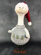 43CMH SANTA DUCK IN GREY JUMPER