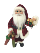 40CM STANDING SANTA IN RED WITH SHOPPING BAGS