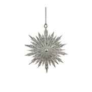 SILVER POINTY SNOWFLAKE HANGER