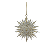 GOLD POINTY SNOWFLAKE HANGER