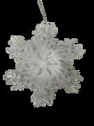 WHITE SNOWFLAKE HANGER
