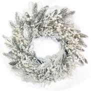 SNOW PINE/WHITE BERRY WREATH