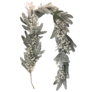SNOW PINE/WHITE BERRY GARLAND