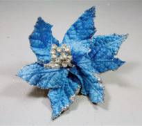 SMALL AQUA POINSETTIA