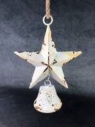 35CMH WHITE STAR WITH HANGING BELL
