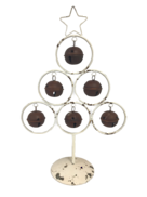 AGED WHITE METAL BELL TREE