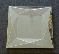 SQUARE MIRROR WITH TRIANGLE FACETS