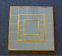 LARGE SQUARE MIRROR WITH BRONZE CASING