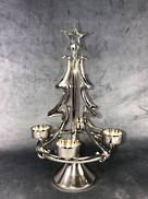 40CMH NICKEL TREE WITH 4 TEALIGHT HOLDERS