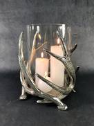 13CMH ANTLER CANDLE HOLDER-NICKEL