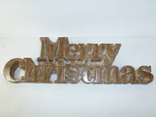 NATURAL RESIN MERRY CHRISTMAS TEXT