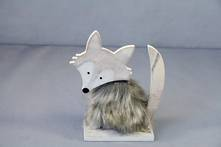 WOOD AND FUR FOX SMALL