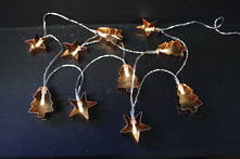 COPPER STAR AND TREE SET10 BATTERY OPERATED LIGHTS