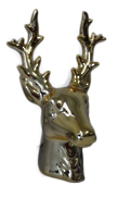 GOLD REINDEER HEAD
