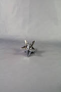 6CMH 3D SILVER PLATED STAR TAPER CANDLE HOLDER