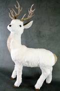 51CMH WHITE STANDING DEER GOLD ANTLERS