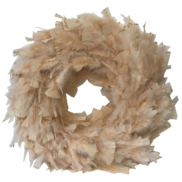 70CMD CORAL FEATHER WREATH