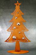 100CMH METAL RUST CHRISTMAS TREE
