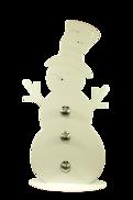 38CMH WHITE METAL SNOWMAN