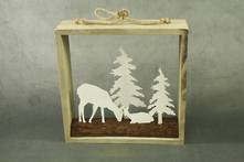 28CMSQ WHITE DEER SCENE IN FRAME