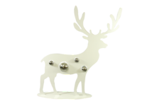 60CMH WHITE METAL DEER