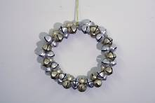 GOLD/SILVER BELL WREATH