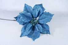 METALLIC BLUE POINSETTIA
