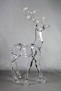 LARGE CLEAR ACRYLIC STANDING DEER