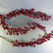 6FT RED BERRY GARLAND