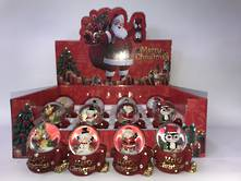 SET12 SNOWGLOBES ON SCARF BASE