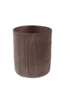 LIGHT PURPLE FROSTED TREE DEER LARGE VOTIVE