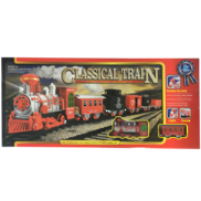LARGE RED/SILVER CLASSICAL TRAIN