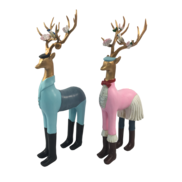 PAIR 4 LEGGED DRESSED DEER