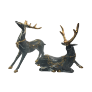 PAIR MARBLE EFFECT DEER