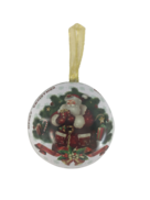 SANTA ND TREE METAL HANGING BALL