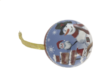 SNOWMAN PARTY METAL HANGING BALL