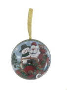 SANTA IN CAR METAL HANGING BALL (12)