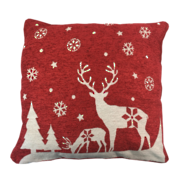 RED/WHITE DEER SNOW CUSHION