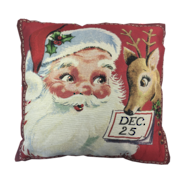 SANTA AND DEER CUSHION