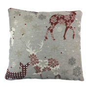 SCANDI GREY/RED CUSHION