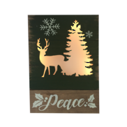 DEER TREE 'PEACE' LIGHT UP BOX