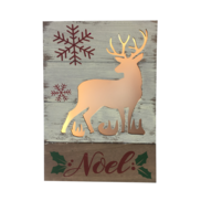 SNOWY DEER 'NOEL' LIGHT UP BOX