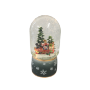 LED TRAIN SNOWGLOBE WITH BLUE BASE